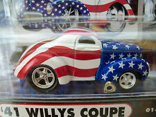 MUSCLE MACHINES '41 WILLYS COUPE - SEPTEMBER 11, 2001 AMERICAN FLAG 1/64 DIECAST