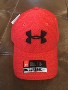 New UA UNDER ARMOUR Classic Fit Hat STORM--RED S M