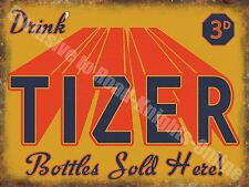 Vintage Food, 99, Tizer Retro Drink Soda Cafe Pub Old Shop, Small Metal/Tin Sign