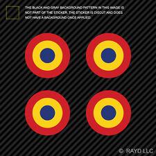 "(4x) 1.5"" Romanian Air Force Roundel Sticker Die Cut Decal Romania ROU RO"