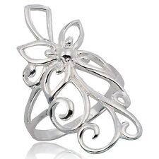 FLOWER RING STERLING SILVER Size.US=8 UK=P