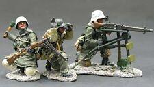 KING & COUNTRY WW2 GERMAN ARMY WS082 WINTER MG42 MACHINE GUN SET MIB