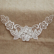 Lace Motif - 12 Count - Embroidery Organza Collar Lace Trim - Off White - M24