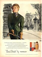 1948 Yardley Bond Street Fashion Dress and Hat  Eligant Woman PRINT AD