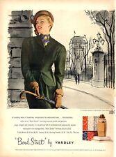 1948 Yardley PRINT AD Bond Street Fashion Dress & Hat Elegant Woman Illustration