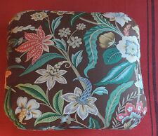 Designer Pillow Chintz Brown Flowers Brunschwig & Fils Scalamandre Mario Buatta