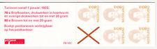 NVPH Postzegelboekje PB 43c  Postfris  E-0228