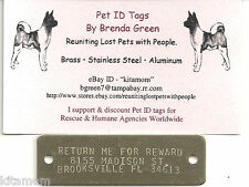 XL Solid Brass Plate Rivet on Collar Harness Horse K-9 Dog Pet ID Tag