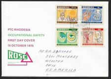 (111cents) Rhodesia 1975 Occupational Safety FDC to USA