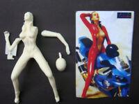 Resin Figure Kit 1/12 150mm Moto Girl Garage Resin Model Kit