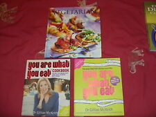 "Gillian McKeith ""You are what you eat"" 2 Books & ""Vegetarian"" Cook Books Bundle"