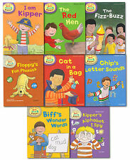 Read With Biff, Chip and Kipper Phonics Starter Collection 8 Books Set (L1-2)