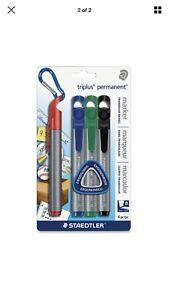 Staedtler Triplus Permanent Marker - 2-5mm Chisel Tip - Assorted Set of 4