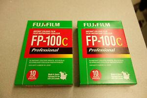 Fuji-FP-100c Pro 3.5x4.2 Color Pack Film Exp 08-2017 Cold Stored 2 Packs