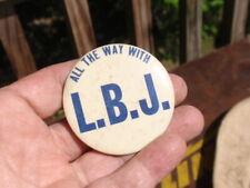 Vintage Lbj Pinbacks Political Pin Button