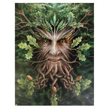 """El hombre verde """"Roble Anne Stokes pared del rey Lona Greenman Pagan Wicca impresión"""