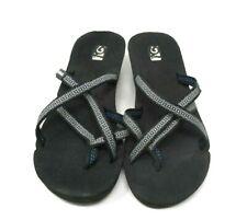 Teva Women's Mush Mandalyn Wedge Flip-Flop Open Toes Heel BLACK 1000099B USA 9
