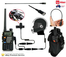 Walkie Talkie 5 Watt UHF VHF Motorcycle Helmet set 128 channel Dual Band FM Radi