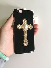 3D-Handmade-Cross-Design-Pearl-Hard-Case-Cover-for-iPhone 6/6S