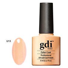 GDI NAILS - U13 PALE PEACH - SUBTLE NUDE - UV LED GEL NAIL POLISH VARNISH