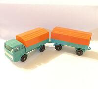 Matchbox Lesney No 1 & 2 Mercedes Truck & Trailer (696)