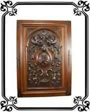 French Antique Hand Carved Large Wood Door Panel Architectural Wood Salvaged