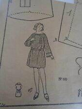 "PATRON ORIGINAL POUR LA POUPEE LISETTE  "" ROBE ELEGANTE  1922"