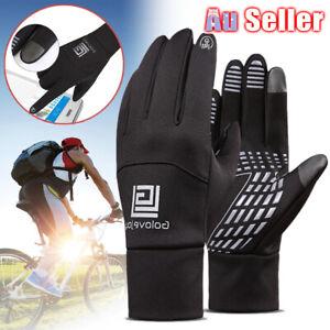 Mens Sports Outdoor Touch Screen Gloves Winter Warm Windproof Phone Waterproof
