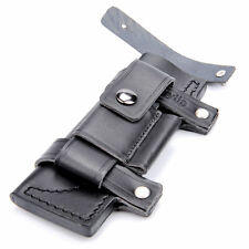 "New HQ Straight Leather Case Black Belt Sheath For Less 7"" Fixed Knife Pouch"