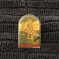 San Francisco Golden Gate Bridge Vintage Enamel Lapel Pin Tie Tack Pin Back