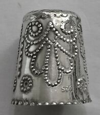 More details for unusual vintage sterling silver thimble garland ribbons and flowers marked 925