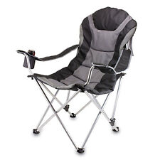 Portable Reclining Camp Chair Outdoor Folding Comfort PicnicTime 803-00-175