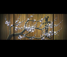 Contemporary Art Painting Abstract Wall Art Feng Shui Japanese Cherry Blossom
