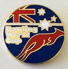 World Cup Ten Pin Bowling Club Badge Australia Kangaroo Vintage (G12)