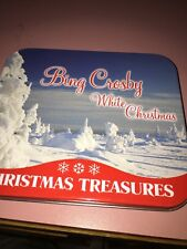 Bing Crosby- Christmas Treasures with White Chrismas cd, in a tin can