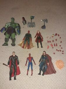 Marvel Legends Job Lot Vision, Thor, Wanda, Hulk Mafex Spiderman