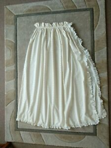 """BABY UNISEX CREAM EMBROIDERED COTTON BEDDING CANOPY CURTAIN H 46"""" x W 82"""""""