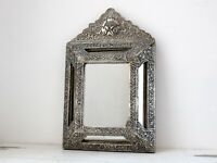 Vintage French Silver-Plated Repoussé Mirror