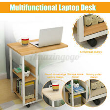 New listing Mobile Rolling Computer Desk Small Space Saver Desk Laptop Pc Printer Table