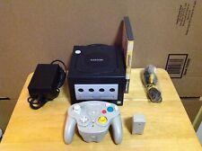 Nintendo GameCube Black Console Bundle w/ Wavebird Controller & Mario Party - 2P