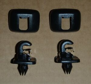 Audi VW GENUINE OEM SUN VISOR HOOK CLIPS SOUL BLACK 8U0 857 562 / 8E0 857 563 A