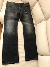 Diesel Black Denim, Distressed Jeans, Size W32 L32, Safado Regular Slim Straight