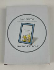Lura Frame Swing Design Lura Picture Frame Enamel 4 x 6 Photo In Baby Blue