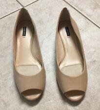 Alex Marie Womens Open Toe Sz/9M Ivory Dressy Shoes EUC