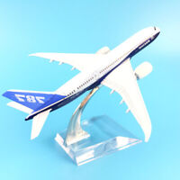 1/400 16cm Biplane B787-8 Diecast Airplane Model Toy Table Decor Collectible P