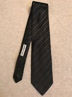 """Dolce And Gabbana"" 100% Silk, Mans Tie, Black/Green, Brand New, Made In Italy"