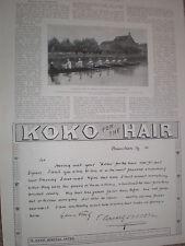 Printed photo Belgium rowing team Ghent Club Nautique at Henley 1900