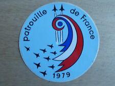AUTOCOLLANT STICKER AUFKLEBER PATROUILLE DE FRANCE 1979 ARMEE AIR FOUGA MAGISTER