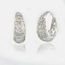 Crystal Hoop White Gold Filled Handmade Fashion Earrings