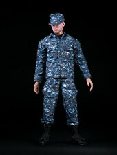 1/6th U.S. NAVY NWU Male Figure Blue Camouflage Training Suit Model Toy Set A